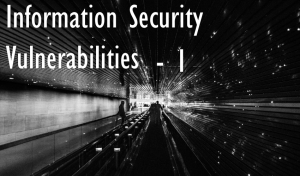 Information Security Vulnerability List – 1