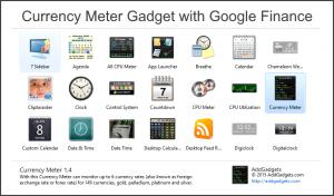 GoogleFinance() function for Currency Meter Desktop Gadget