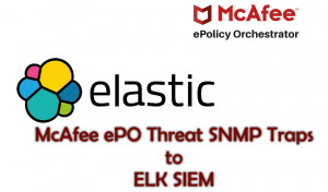 Sending McAfee ePO Threat based SNMP traps to ELK SIEM